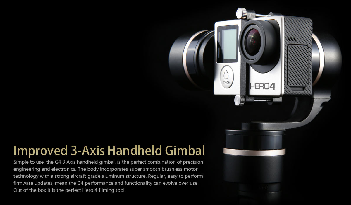 Feiyu Tech G4 3-Axis Handheld Steady Gimbal GoPro Stabilizer HERO 4 HERO 3 HERO 3+ (1)